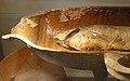 Earthen vessel. Was used for baking fish (Sieraków, museum).jpg