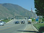 East on W 400 South at I-15 interchange, Springville, Utah, May 16.jpg