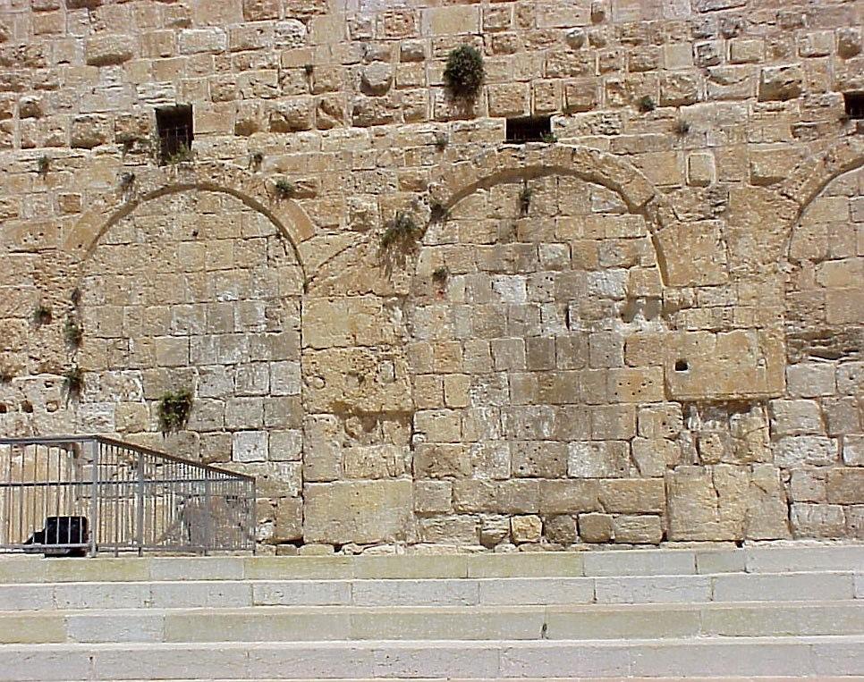 Eastern gate of huldah L