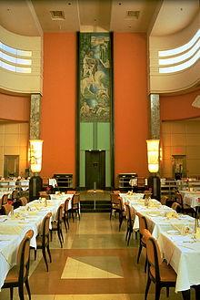 Ninth Floor Restaurantu0027s Dining Hall And Mural