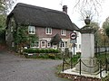Ebbesbourne Wake, war memorial and Old Forge Cottage - geograph.org.uk - 1030646.jpg