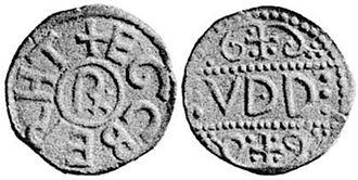 Ecgberht II of Kent - Coin of Ecgberht, Fitzwilliam Museum.