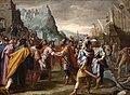 Ecole italo-flamande fin 16e Abraham et Melchisedech.jpg