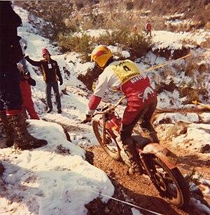 FIM Trial World Championship - Eddy Lejeune at the 1981 Trial de Sant Llorenç