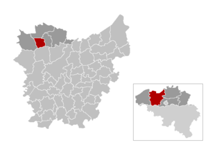 Eeklo - Image: Eeklo Location