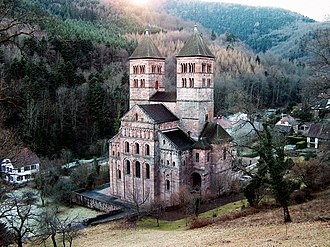 Murbach - Romanesque church, Murbach Abbey