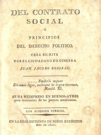 Mariano Moreno - Jean-Jacques Rousseau's The Social Contract, translated into Spanish by Mariano Moreno