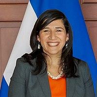 El Salvador's Minister of Economy Maria Luisa Hayem (cropped).jpg