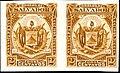 El Salvador 1895 2c Seebeck yellow brown pair.jpg