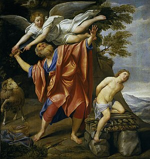 Binding of Isaac -  God commands Abraham to offer his son Isaac as a sacrifice, Domenichino