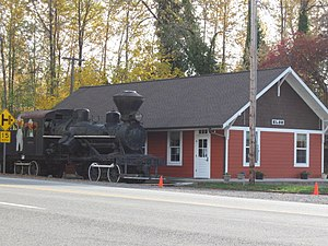Elbe, Washington - Elbe, WA train depot.