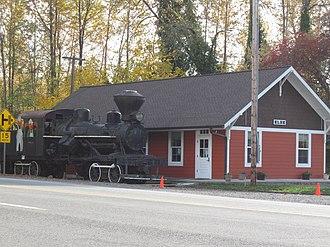 Elbe, Washington - Elbe, WA train depot.