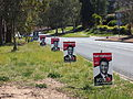 Election signs near Wanniassa Hills Primary School October 2012.JPG