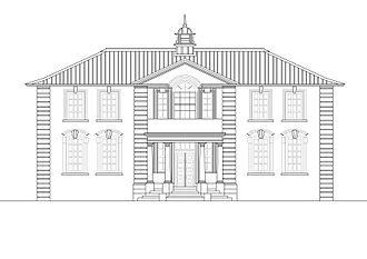 Brisbane Central Technical College - Elevation of A Block