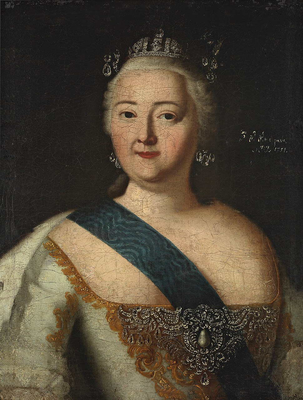 Elizabeth of Russia by A.Antropov (1751, Tretyakov gallery)
