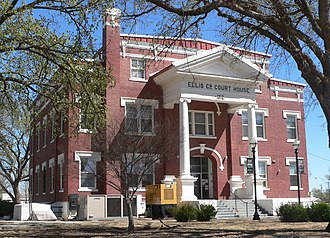 National Register of Historic Places listings in Ellis County, Oklahoma - Image: Ellis County, Oklahoma courthouse from NW 2