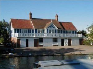 Emmanuel Boat Club - Image: Emmanuel College Boathouse Cambridge