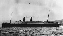 L'Empress of Ireland en mer.