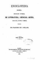 Francisco de Paula Mellado: Español: Enciclopedia moderna