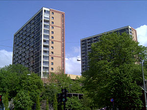 Enerhaugen - Apartment tower blocks at Enerhaugen