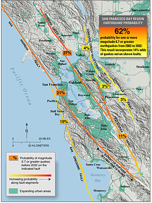 Hayward Fault Zone - San Francisco Bay region earthquake probability