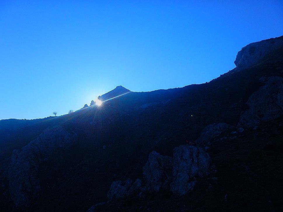 Equinozio da Pizzo Vento,tramonto fondachelli fantina, sicilia