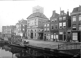Weigh House (Leiden) - View of the Weigh House. Photo is mirror reversed.