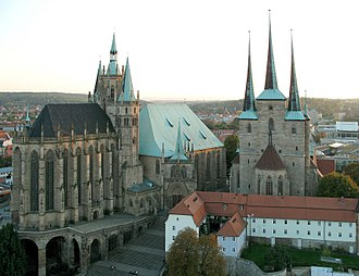 Thuringia - Erfurt: Cathedral and St. Severus' Church