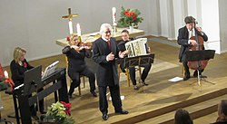 Esa Ruuttunen with the Trio Tanguango and the Nova Ensemble Piano Trio.JPG