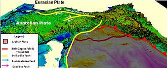Anatolian Plate - Image: Eurasian & Anatolian Plate
