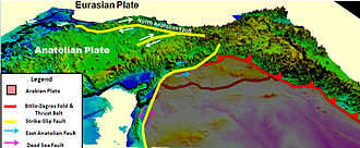 Eurasian Plate - Image: Eurasian & Anatolian Plate