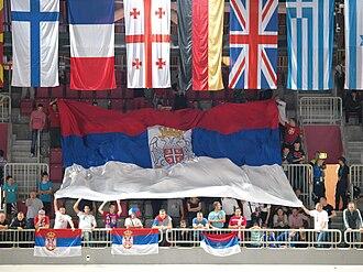 EuroBasket 2013 - Serbian fans in Arena Stožice