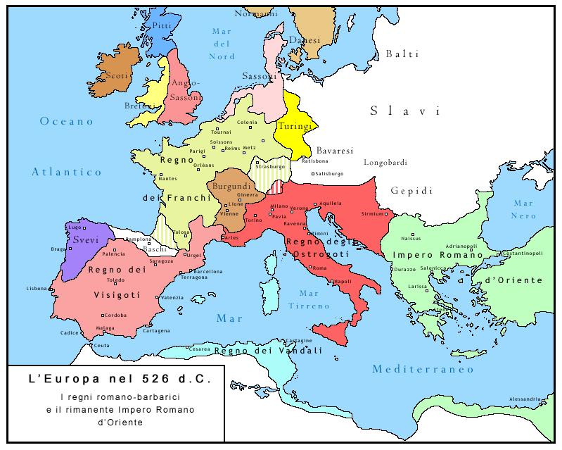 Europa in 526
