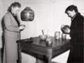 Eva Stæhr-Nielsen (right) and Nathalie Krebs (left) from Saxbo preparing an exhibition.png