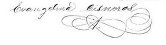 Evangelina Cosio y Cisneros - Signature