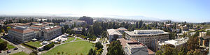 Evans Hall (UC Berkeley) - Panoramic view from Evans Hall, September 2010.