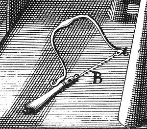 Coping saw - Image: Félibien Des principes de l'architecture plate 457 detail