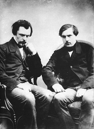 Goncourt brothers - Edmond (left) with his brother Jules. Photographed by Félix Nadar