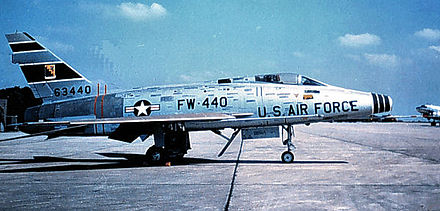 North American F-100D-85-NH Super Sabre Serial 56-3440 of the 308th Tactical Fighter Squadron. - George Air Force Base