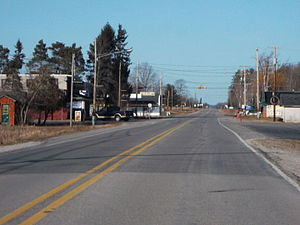 F-41 (Michigan county highway) - F-41 near the intersection of F-30 in Mikado Township