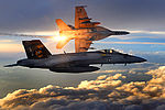 FA-18 Super Hornets of Strike Fighter Squadron 31 fly patrol, Afghanistan, December 15, 2008.jpg