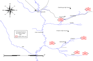 Operation Moduler - Estimated FAPLA positions after the Lomba River retreat