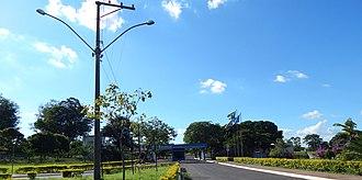 Fundação Educacional do Município de Assis - FEMAs hall of entrance from Getúlio Vargas Avenue