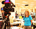 FEMA - 44676 - Federal Coordinating Officer Gracia Szczech assists with Video Production.jpg