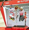 FIS Alpine Skiing World Cup in Stockholm 2019 Ramon Zenhauesern and Mikaela Shiffrin.jpg