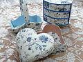 Fabric-covered basket, chest of drawers, and heart-shaped box - 20110210.jpg