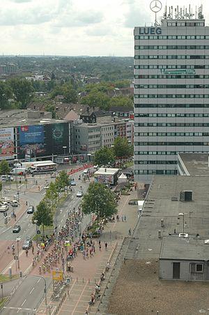 Sparkassen Giro Bochum - UCI Women's Road World Cup at Bochum Train Station