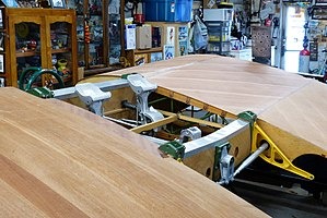Fairchild PT-19 - PT-19 plywood wing center section