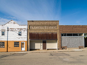 Drake, North Dakota - Farmers Store in Drake