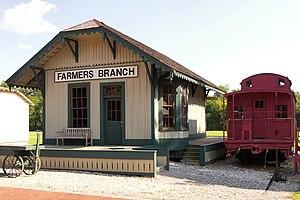 Farmers Branch, Texas - Historic railroad depot, built 1877